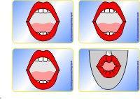 Mundbildpictogramme Größe 2 farbig