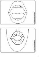 Mundbildpictogramme Größe 3 sw