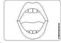 Mundbildpictogramme Größe 4 sw